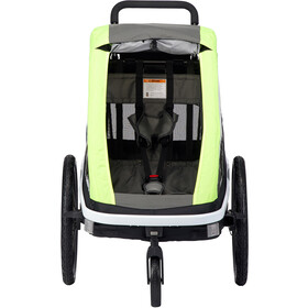 Hamax Avenida ONE Bike Trailer incl. Bicycle Arm & Stroller Wheel lime